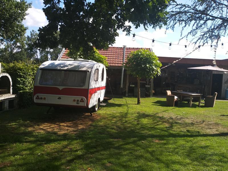Anneke Panneke's paradise sleeping in our Yvonneke - retro caravan #3