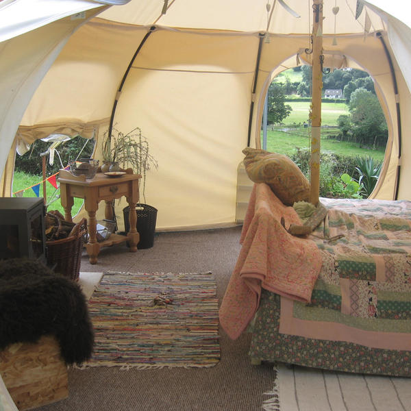 Aberystwyth Lotus Belle Tent with Hot Tub and Camp-fire! #2