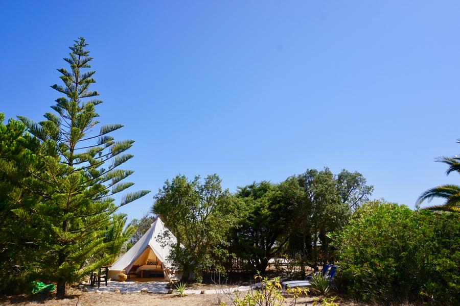 PRIVATE LUXURY BELL TENT SET IN TROPICAL GARDEN #3