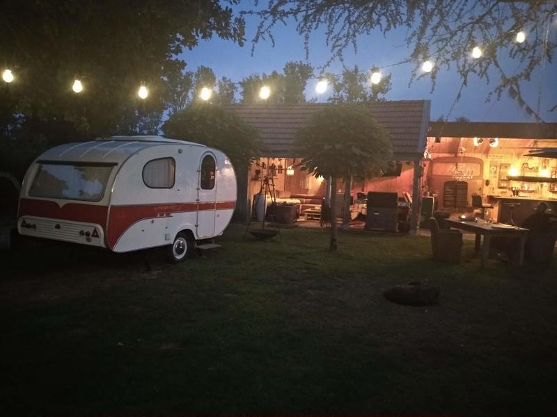 Anneke Panneke's paradise sleeping in our Yvonneke - retro caravan #1
