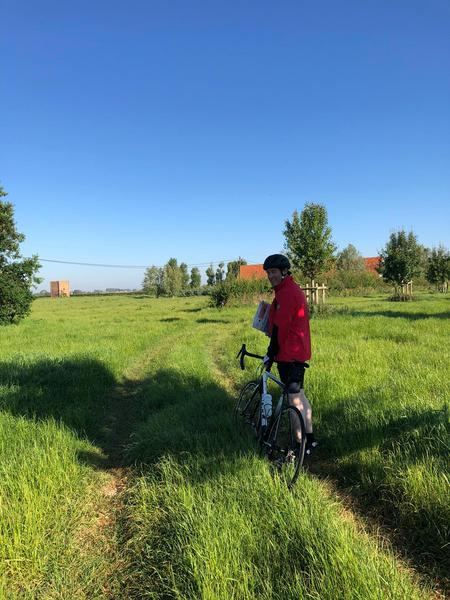 Quiet camping in the middle of hiking and cycling routes along the northern French border #2