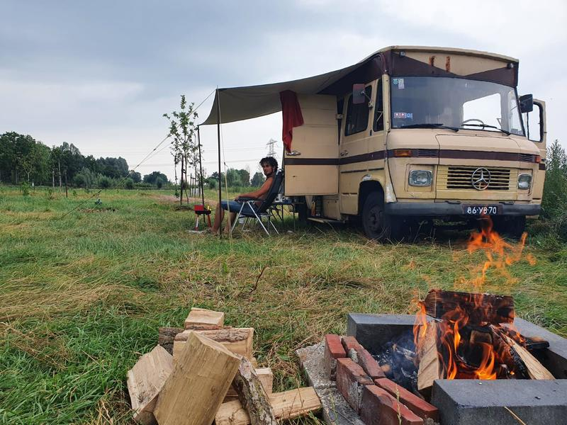 Camping in the tall grass near our food forest in the Westerkwartier #5