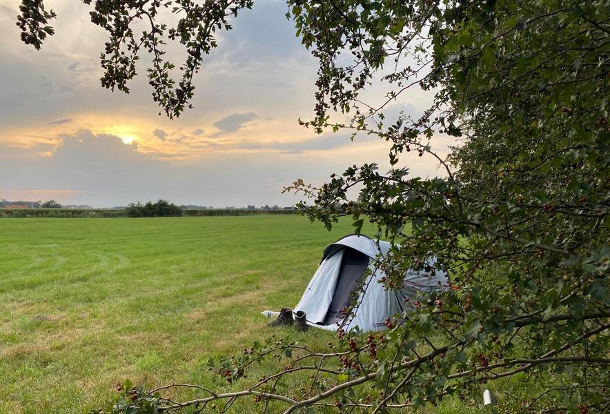 Camping with a wide view over the fields #12