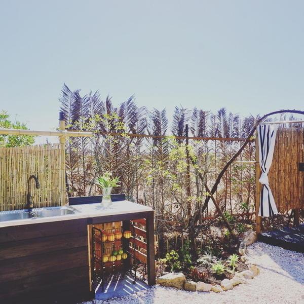 Camp space in tropical garden #4