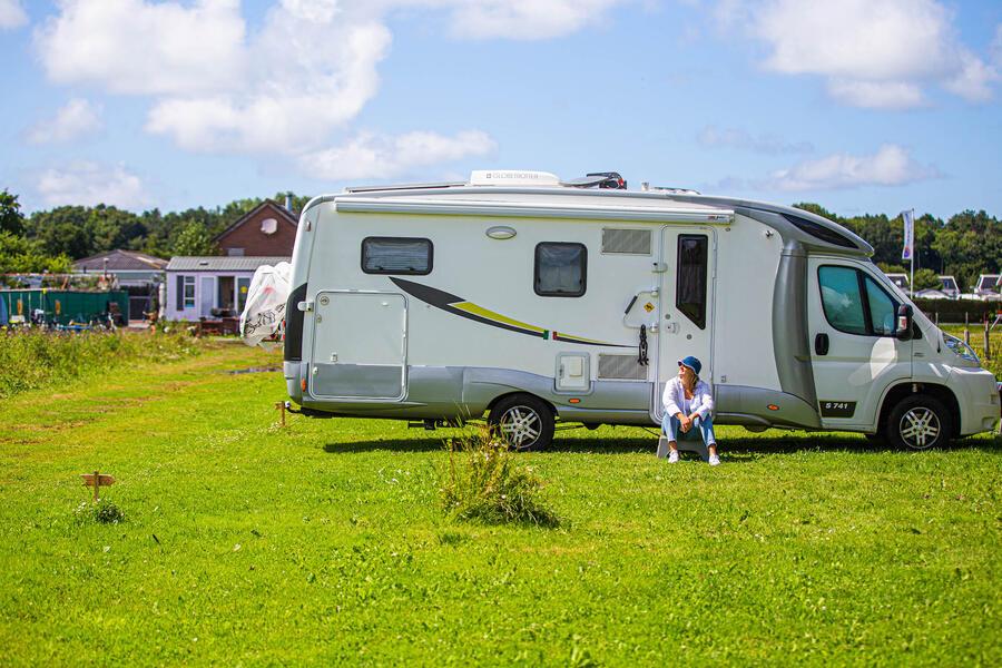 Campspace vlakbij het strand